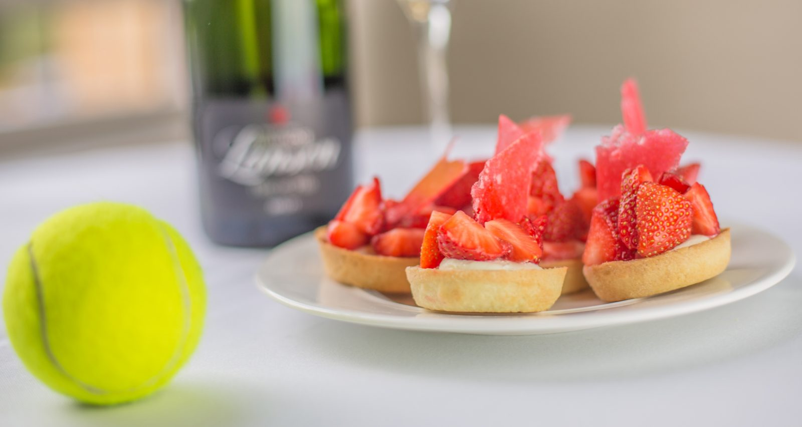Champagne and Strawberry tarts for Wimbledon