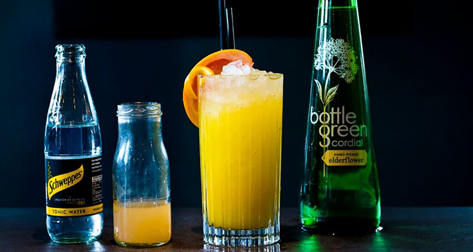 Pink Grapefruit and Orange Cooler mocktail