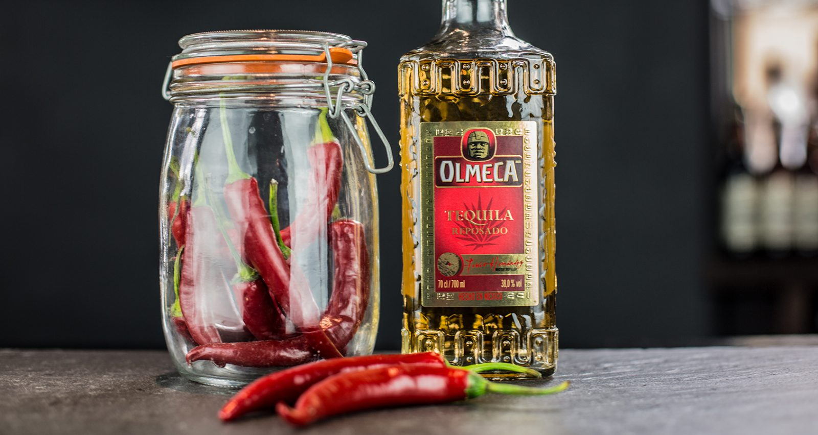 Chilli infused tequila
